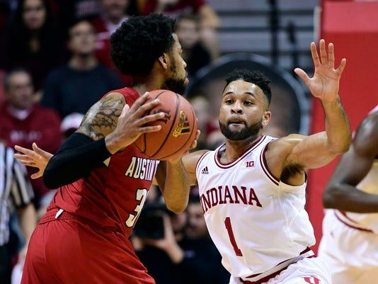 NCAA Basketball: Austin Peay at Indiana