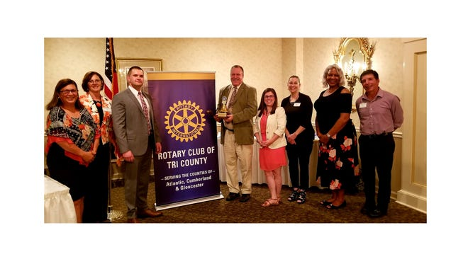 The members of the Rotary Club of Tri-County recently welcomed its newest president, executive board and directors during a special Changeover Dinner Celebration. (From left) Maria Aviles, Beatrice Hughes, Nicholas Bernhardt, Christopher Volker, Erin Mendez, Jessica Albertson, Paula Davis and Gerald Covella are pictured at the dinner. Melanie Druziako, Patrick Massaro and Mary Gruccio are not pictured.