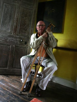 George A. Frolic Weymouth on his property in 2007.