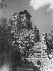 The CCC had building projects, such as Monjeau Lookout Tower on the Lincoln National Forest.