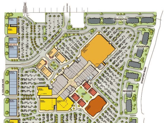 Foothills Mall site plan