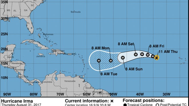 Hurricane Irma has now formed in the atlantic.