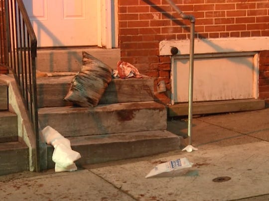 Wilmington Police investigate the scene of a stabbing on West 8th and Adams streets early Monday morning.