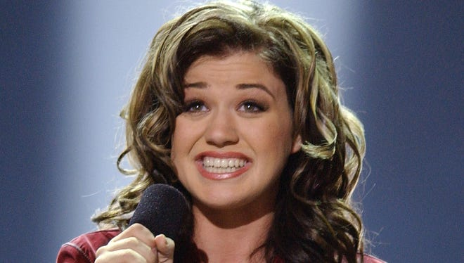 "Kelly Clarkson sings ""A Moment Like This,"" during the first season of ""American Idol"" in 2002."
