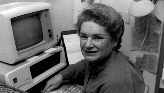 Edith Lank, 1984 Matrix Award winner given by the women in communications.  (Democrat and Chronicle  March 1984. Provided photo.)