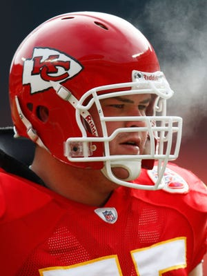 Redding native and former NFL, Cal and Enterprise High lineman Ryan O'Callaghan shown playing for the Kansas City Chiefs.