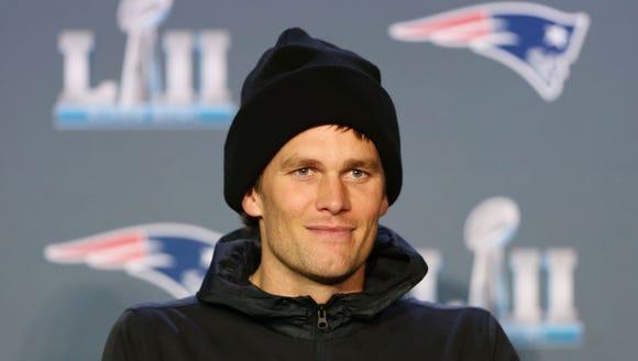New England Patriots quarterback Tom Brady during a