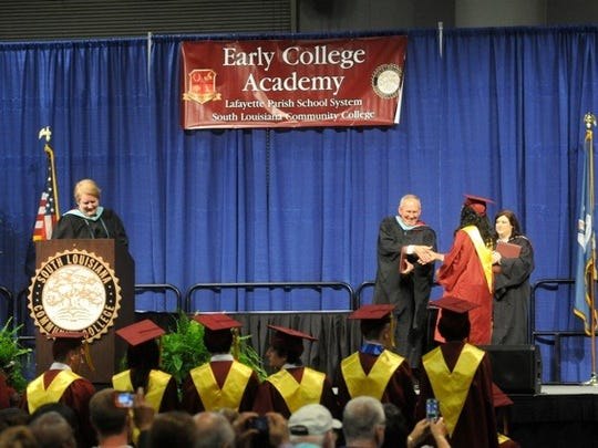 Early College Academy holds graduation ceremonies in May 2015.