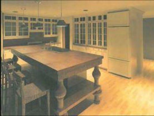 Loft apartment rendering