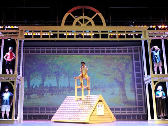 The cast of Mary Poppins begin a dress rehearsal Tuesday