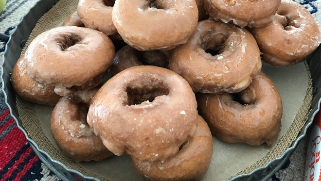 Classic glazed donuts from Schutt's Apple Mill in Penfield