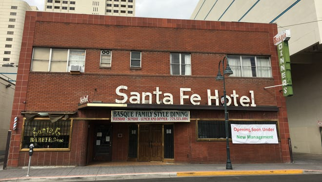 The Santa Fe Hotel, a Basque restaurant and residence in downtown Reno, has been closed since its July 2017 purchase by Reno businessman Dennis Banks. The Reno fixture could re-open in July 2019 after missing a tentative re-opening in May.