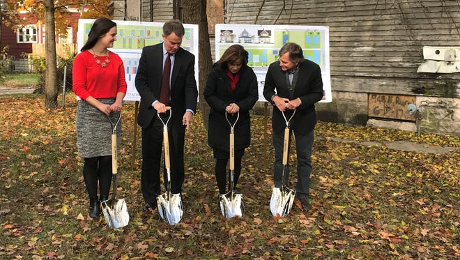 Mayor Joe Hogsett breaks ground on the Teacher's Village.