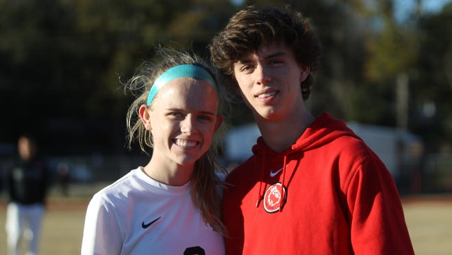 Leon seniors Maddie Powell and Parker Powell, who are fraternal twins, learned to be competitive with each other at an early age. Their respective soccer teams play postseason games on back-to-back nights at Leon.