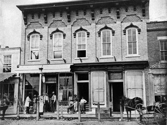 George A. Starkweather's downtown Plymouth store.