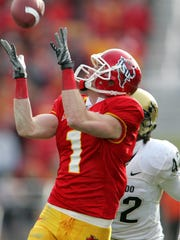 Former Iowa State wide receiver Todd Blythe will be among the honorary captains at Saturday's spring game.