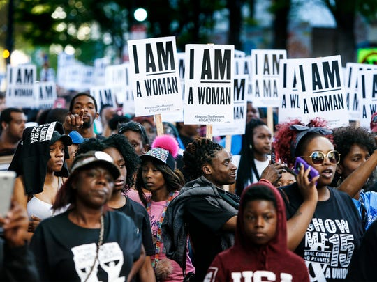 Thousands of marchers walked down North Main Street on Tuesday from City Hall to the National Civil Rights Museum to shine a light on the legacy of Dr. Martin Luther King Jr. and the current fight for equal pay.