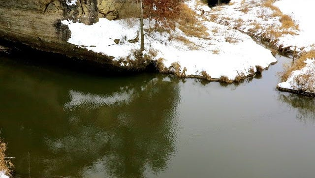 There is no shell ice currently on most drift-less area streams.