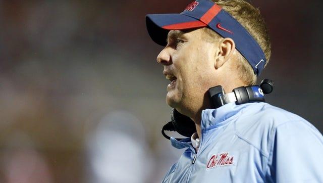 Ole Miss coach Hugh Freeze