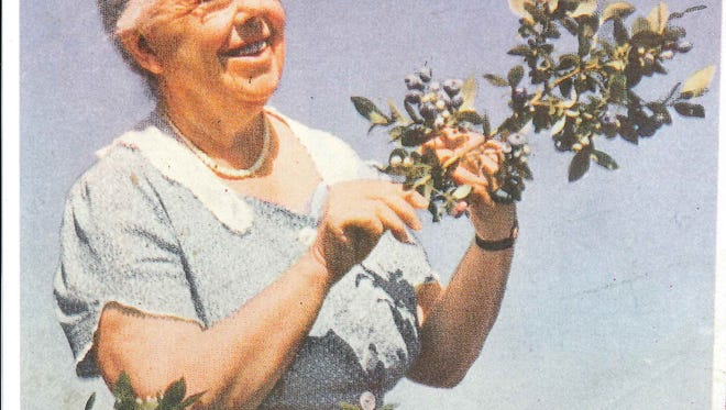 Elizabeth Coleman White in a photo from the Whitesbog Preservation Trust's archive. White helped cultivate the wild blueberry and started the blueberry industry.