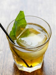 The Whiskey Smash had basil as a twist.