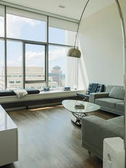 Modern furnishings fit the bill in the 1,356-square