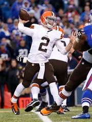 The Browns won't start Johnny Manziel at quarterback