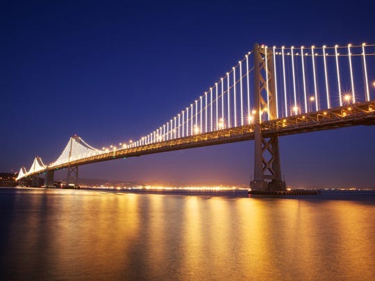 Public art reaches new heights at The Bay Lights, a huge display by artist Leo Villareal that illuminates the west   span of the San Francisco-Oakland Bay Bridge.