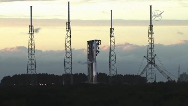 An Atlas V rocket launch from Cape Canaveral Air Force Station in Florida was scrubbed for the second time Friday night.