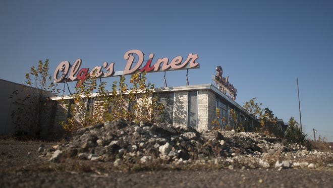 Olga's Diner, which has been closed for years, will soon be torn down and replaced by medical offices.