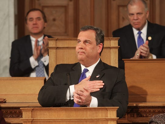 Governor Christie thanks Patrick Kennedy, a former