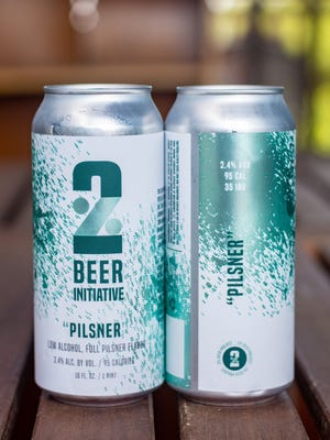 The first beer to carry the 2% Beer Initiative label - a pilsner at a paltry 2.4% ABV -  turned heads at Jack's Abby. [Submitted Photos