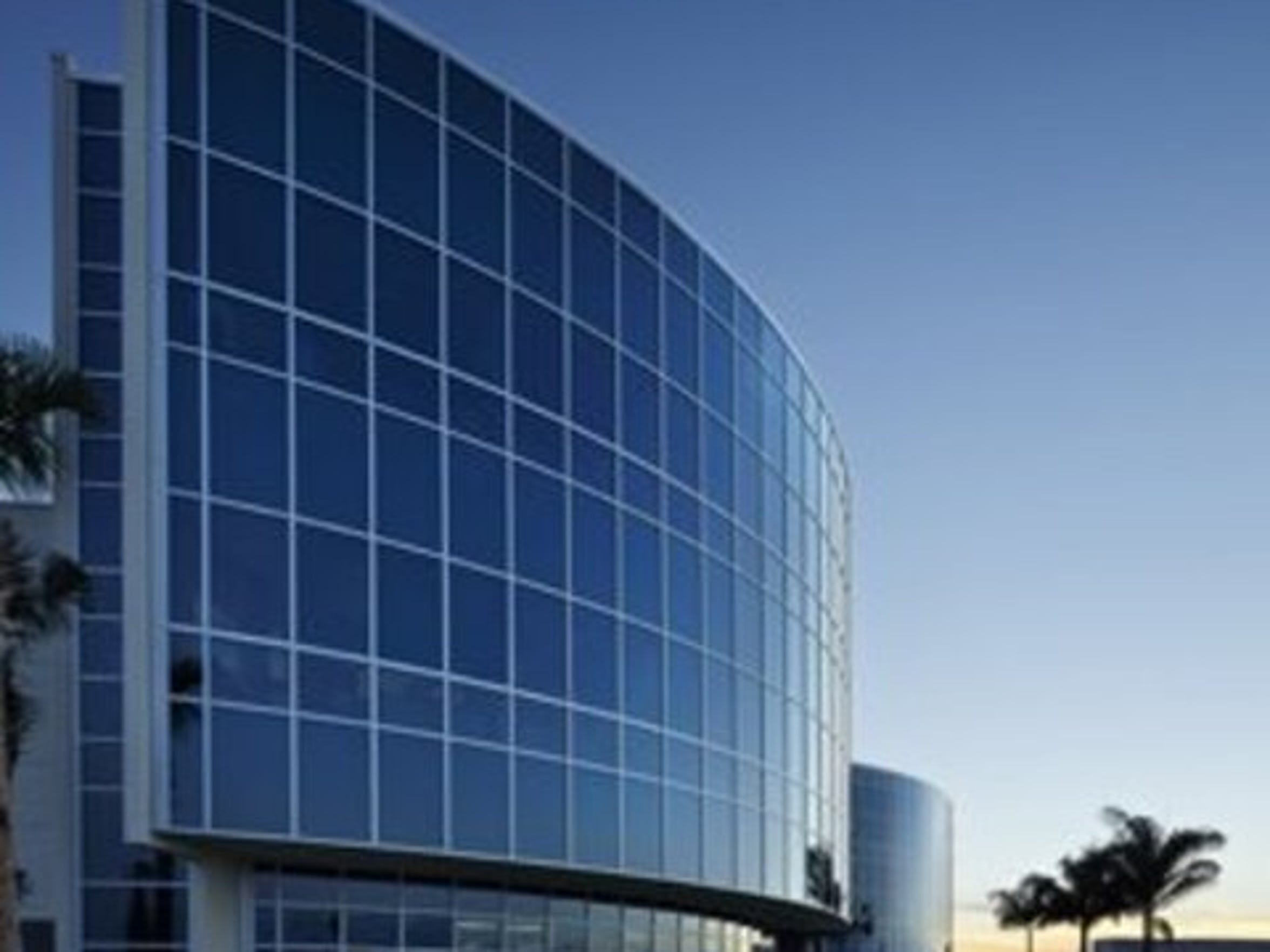 Exterior of the former VGTI Florida building at the