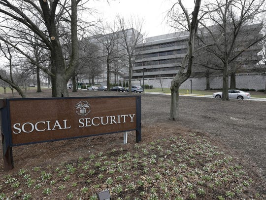 FILE - In this Jan. 11, 2013 file photo, the Social Security Administration's main campus is seen in Woodlawn, Md.
