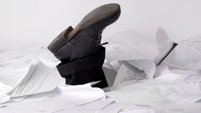 Keeping track of papers can be daunting, but a lot you can just trash.