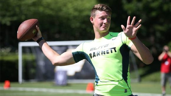 ESPN rates Blake Barnett the top pocket passer in the 2015 recruiting class.