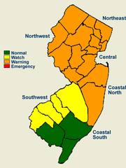Fourteen counties in New Jersey are under a drought warning.