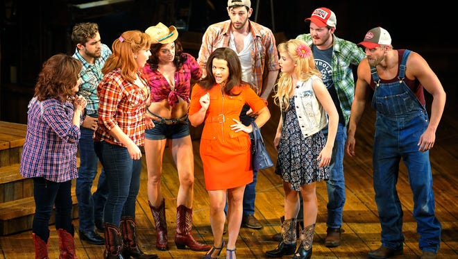 "Rose Hemingway plays Misty Mae in ""MOONSHINE: That Hee Haw Musical"" at the Wyly Theater in Dallas."