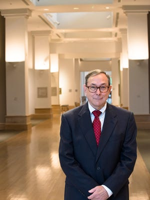 Mark Johnson, The Montgomery Museum of Fine Arts director, stands inside The Montgomery Museum of Fine Arts on Tuesday, Aug. 8, 2017, in Montgomery, Ala. Johnson plans to retire from his position soon.