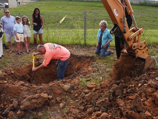 The Cathedral of St. John Berchmans is excavating the