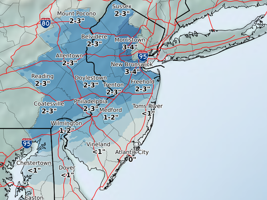 Anywhere from zero to 3 inches of snow is possible
