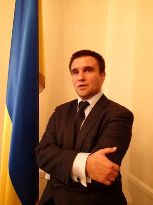 Ukraine Foreign Minister Pavlo Klimkin says a frozen conflict with pro-Russian separatists in east Ukraine would threaten all of Europe.