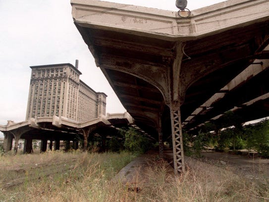 Michigan Central Train Depot in Detroit in 1996.