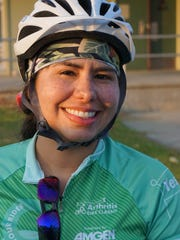 Marlin Campos, 32, of Simi Valley, is currently riding in the Arthritis Foundation's California Coast Classic Bike Tour, a 570-mile, eight-day ride from San Francisco to Los Angeles. The riders are spending Friday night in Ventura.