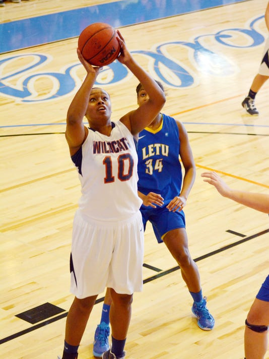 ANI LC vs. Letourneau Louisiana College's Danisha Allison (10) shoots against Letourneau Saturday, Jan. 24, 2015.-Melinda Martinez/mmartinez@thetowntalk.com The Town Talk Gannett