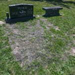 Joyce Petrie's son's grave at St. Andrew  Cemetery in Saginaw Township.