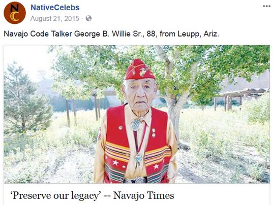 Navajo Code Talker dies