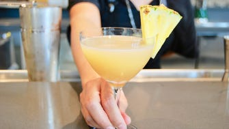 Bar 1908's Bali H'ai @ the Beach combines El Dorado 5-year rum, lime juice, pineapple juice, orgeat and pineapple liqueur.