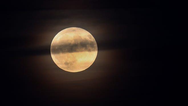 A harvest moon.