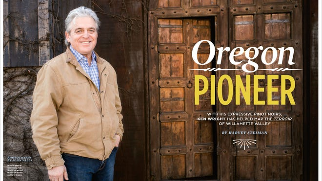 Wine Spectator's spread on Oregon winemaker Ken Wright spanned 10 pages.